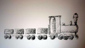 illustration av ett tåg