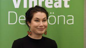 Riksdagsledamoten Emma Kari i Helsingfors den 23 oktober 2018