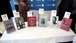 De nominerade böckerna.