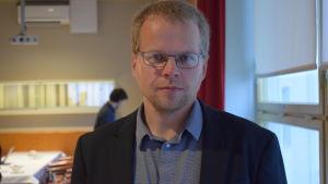 Viltchef Mikael Luoma vid Finlands viltcentral.