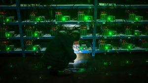 En bitcoingruva i Sichuan i Kina