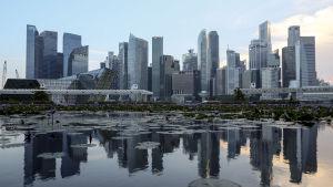 Singapores silhuett
