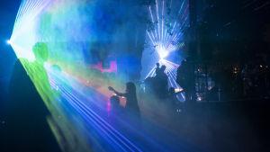 Lasershow i Schweiz.
