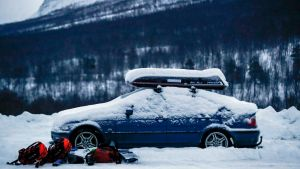 De saknade alpinisternas bild parkerad i Tamokdalen.