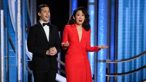 Andy Samberg och Sandra Oh agerade värdduo på galan.