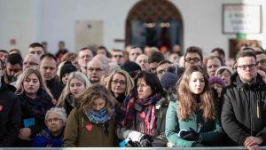Borgmästaren Pawel Adamowicz sörjs av invånarna i Gdansk