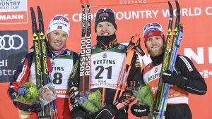 Andra segern i världscupen i Kuusamo 2016.