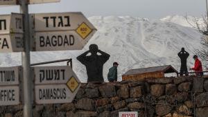 Vy över Mount Hermon från Ben Tal den 20.1.2019.
