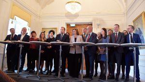 Statsminister Stefan Löfven presenterar den regering som tillträder den 21 januari 2019