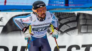 Andreas Romar efter ett träningsåk i Garmisch-Partenkirchen.