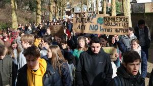 Torsdagens demonstration i Leuven samlade över 10 000 deltagare.