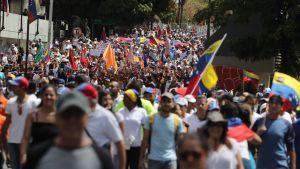 Demonstration i Caracas, Venezuela