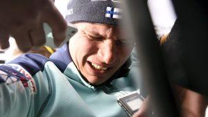 Matti Heikkinen intervjuas.