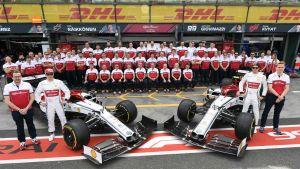 Alfa Romeo stallet redo för Formel 1 säsongen