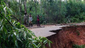 Skador i ZImbabwe efter cyklonen Idais framfart.