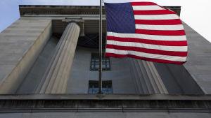 Det amerikanska justitieministeriets byggnad i Washington den 20 mars 2019.