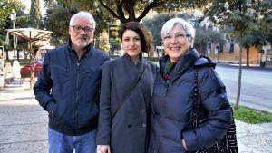 Moreno Canuti, Irene Canuti och Luisella Marianelli är besvikna på att Italien går bakåt istället för framåt.
