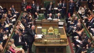 Det brittiska parlamentet den 29 mars 2019.