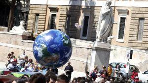 Klimatmanifestation i Rom 19.4.2019