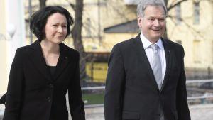 Presidentparet Sauli Niinistö och Jenni Haukio.