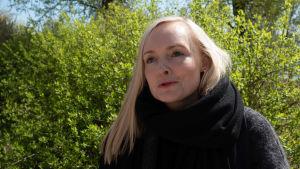 Maria Ohisalo lähikuvassa.