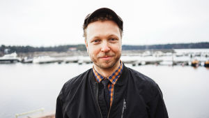 Lauri Nurkse Vuosaaren satamassa.