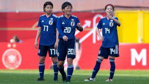 Narumi Miura, Kumi Yokoyama och Yui Hasegawa.