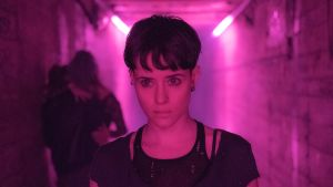 Claire Foy som Lisbeth Salander i filmen 'The Girl in the Spider's Web: A New Dragon Tattoo Story' 2018