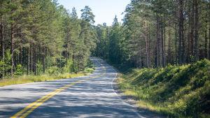 Vägen till bromarv är krokig o har branta kurvor