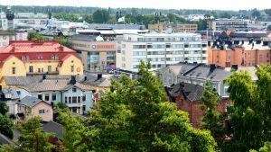Borgå stad sett från Näse sten.