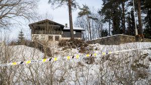 Huset där Anne-Elisabeth Hagen bodde utanför Oslo