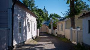linvävaregatan i Ekenäs gamla stan