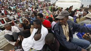M23-upproret drev över 140 tusen människor på flykt i norra Kivu i Demokratiska republiken Kongo.