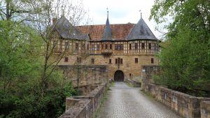 Slottet Irmelshausen i Tyskland.