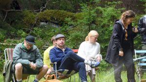 Bild från filminspelningen av filmen Seurapeli.
