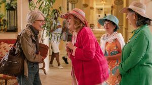 Diane Keaton, Celia Weston, Karen Beyer och Sharon Blackwood i filmen Poms 2019.