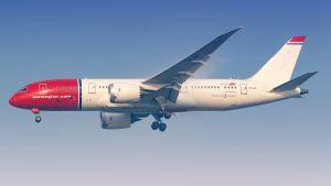 Norwegian flygplan av modellen Boeing 787-8