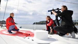 Greta Thunberg ombord på Malizia II.