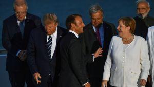 Stämningen mellan världsledarna var klart mer avslappnad under årets G7-möte
