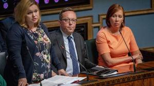 Mika Lintilä eduskunnan kyselytunnilla 12.9.2019