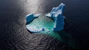 Ett isberg i Newfoundland, Kanada.