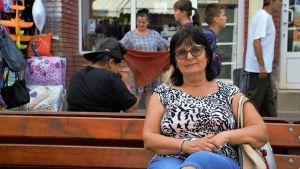Gina Turcin på sitt årliga besök i hemlandet.
