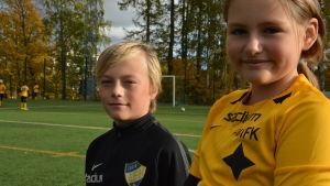 Hugo Oksjoki och Amelie Baltic