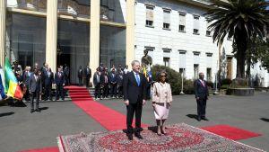 Presidenterna Sauli Niinistö och Sahle-Work Zewde i Addis Abbeba, Etiopien 15.10.2019