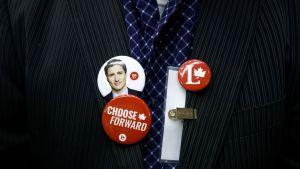 Kampanj för Justin Trudeau