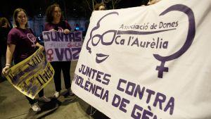 Protester mot könsrelaterat våld. Demonstration i Barcelona 20.9.2019