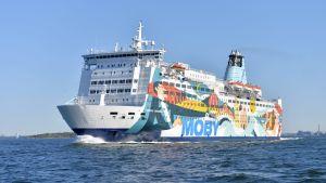 Moby SPL:s kryssningsfartyg Princess Anastasia utanför Helsingfors 21.5.2018.