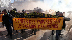 Demonstranter i Montpellier 9.11.2019