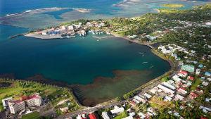 Vy över Apia, önationen Samoas huvudstad