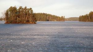 Kuolimon järvi jäässä